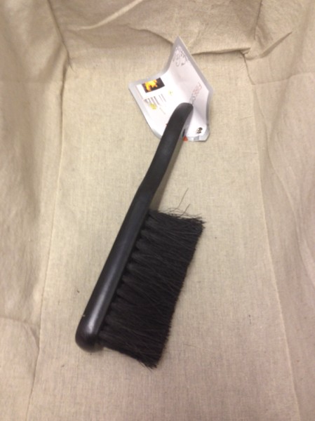 Black bannister brush