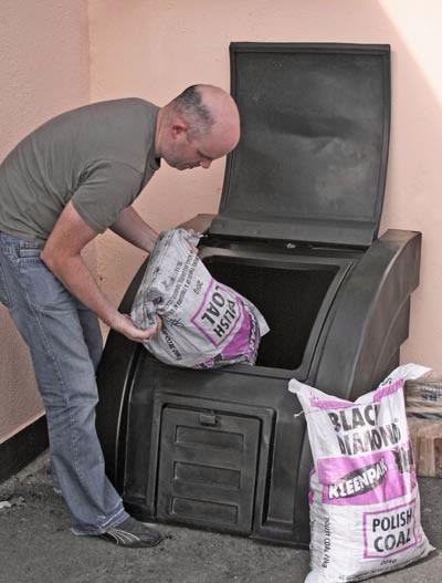 Plastic Coal Bunker