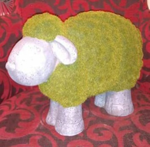 Concrete flocked sheep.