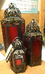 Set of 3 Morocco style lanterns