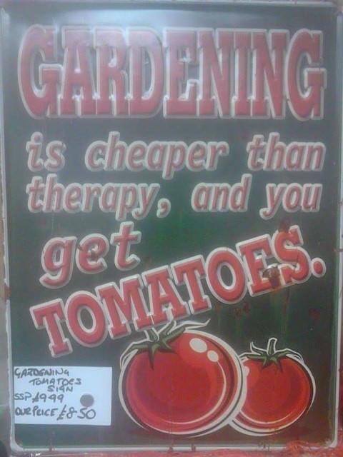 gardening sign metal